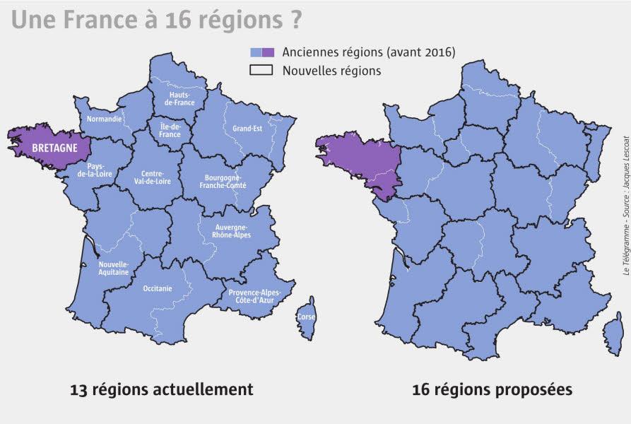Régions. Plaidoyer pour une autre carte - Débats - LeTelegramme.fr