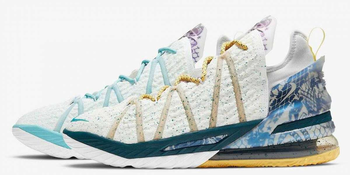 Special Offer DB8148-100 Nike LeBron 18 Reflections Flip Sneakers