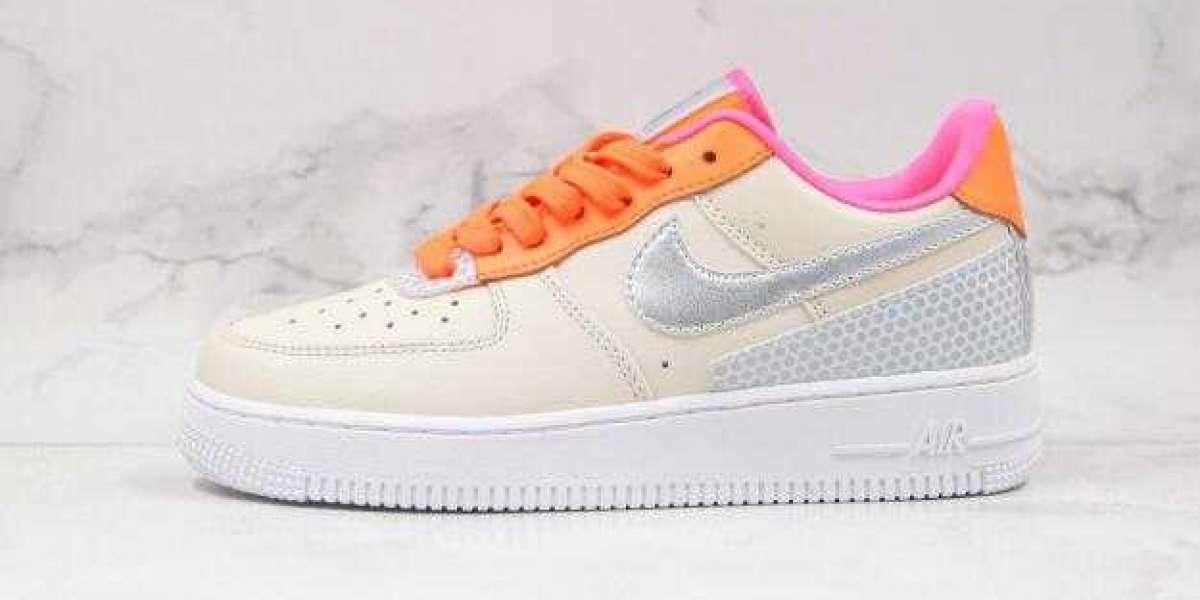 Best Deal Online Sale Nike Air Force 1 3M Khaki Orange Sneakers