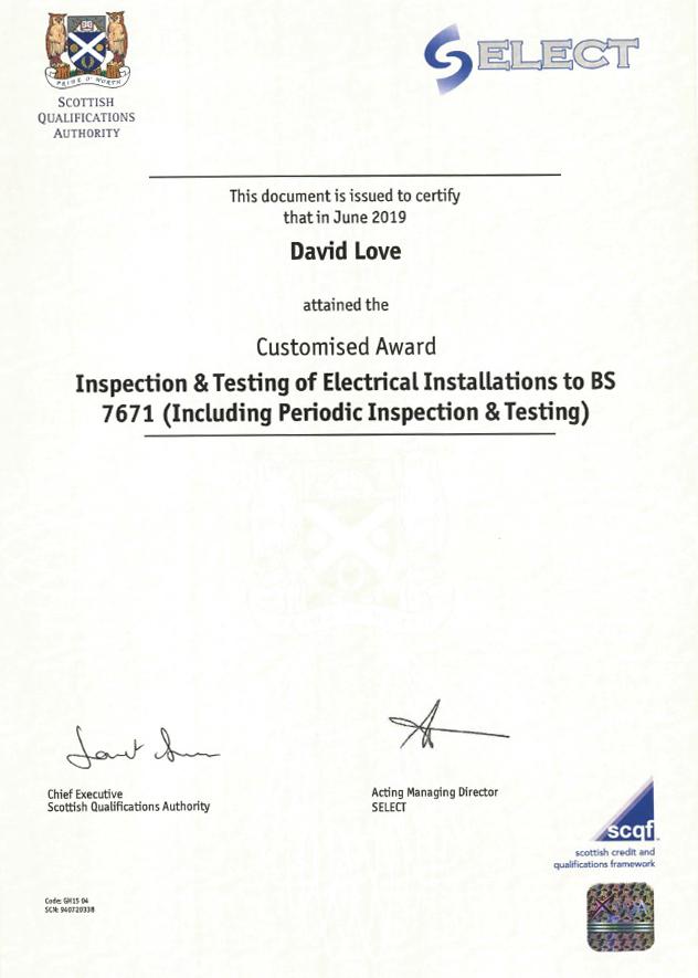 Emergency Electrician in Edinburgh & Dalkeith- DAVID LOVE ELECTRICAL & PLUMBING